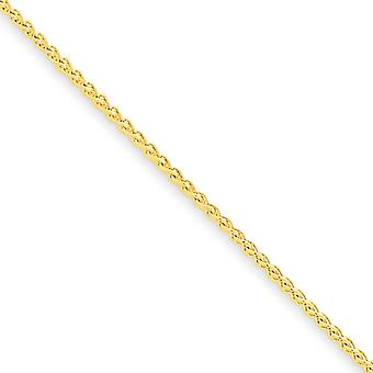 10k Yellow Gold Solid Polished Lobster Claw Closure 1mm Spiga Chain Necklace - Lobster Claw - Length: 16 to 30