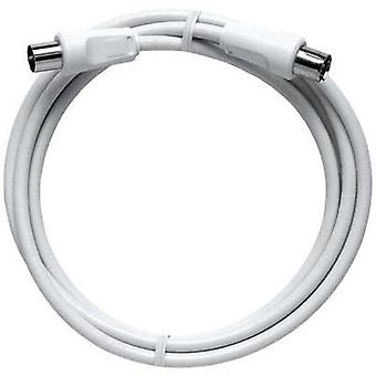 Antennas Cable [1x Belling-Lee/IEC plug 75Ω - 1x Belling-Lee/IEC socket 75Ω] 2.50 m 85 dB White Axing