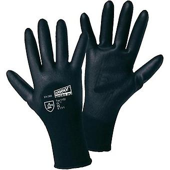 worky 1152 MICRO black polyamide PU-partial coated fine-knitted gloves 100 % polyamide with PU-coating Size 9