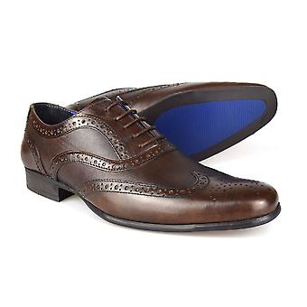 Red Tape Carn 2 Brown Leather Men's Brogue Dress Shoes