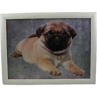 Laptop lap pillow or cushion Baby Pug
