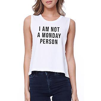 Ikke en mandag Person afgrøde Tee mandag sygdom kampvogne ærmeløs Shirt