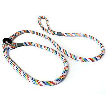 KJK rebslageri flettet Slip bly med gummi Stop regnbue farvet 8 mm X 150 cm