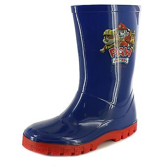 Paw Patrol Wellington Boots Wellies Blue & Red Boys Rainy Weather Various Sizes