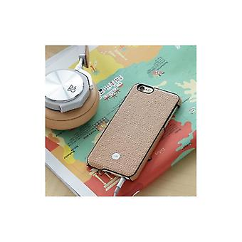 Just Mobile Quattro Back-Exquisite leather case For iPhone 6S-BEIGE