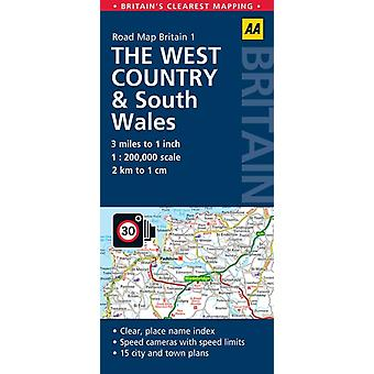 Road Map The West Country & South Wales (AA Road Map Britain Series - 1) (Map) by Aa Publishing