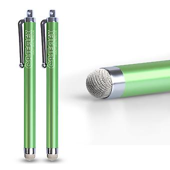Caseflex Stylus Pen Green (Twin Pack)