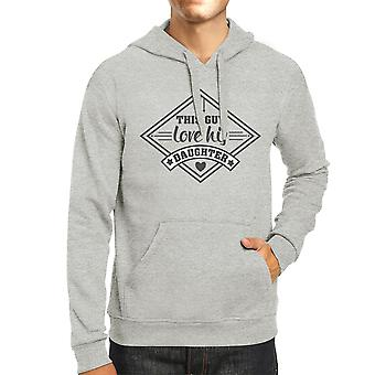 This Guy Love His Daughter Mens Grey Hoodie New Baby Girl Dad Gifts