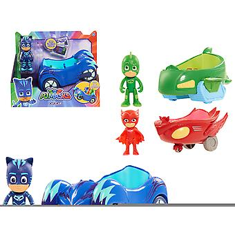 Bandai Pjmasks Vehículo Con Muñeco -21X18 (Toys , Preschool , Playsets , Vehicles)