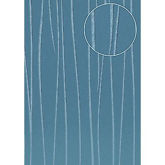 Stripes Atlas blue azur blue eyed 5.33 m2 COL-570-3 non-woven wallpaper smooth lustrous design
