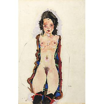 Egon Schiele - Nude Woman Poster Print Giclee