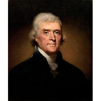 Rembrandt Peale - Thomas Jefferson Poster Print Giclee