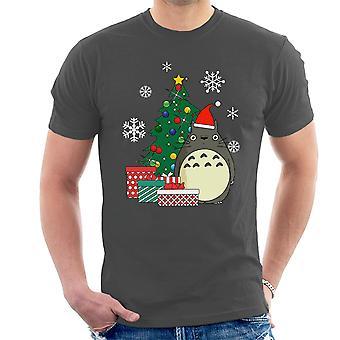 Totoro kerstboom Studio Ghibli T-Shirt voor mannen