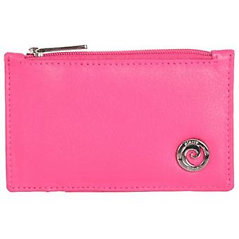 Pierre Cardin Zip Top Card Holder - Bright Pink