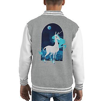 Amalthea Greek Mythology The Last Unicorn Kid's Varsity Jacket