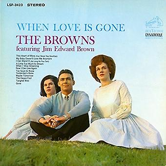 Browns / Brown, Jim Edward - When Love Is Gone [CD] USA import