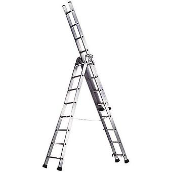 AFT Industrial Ladder Aluminum Sections 300 3 7+ 7+ 7 Steps