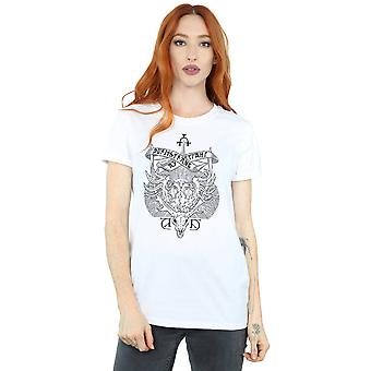 Harry Potter Women's Durmstrang Institute Crest Boyfriend Fit T-Shirt