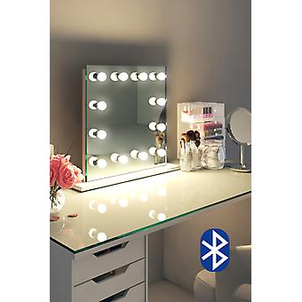 Diamond X Table Top Hollywood Audio Mirror & Dimmable LED k411sCWaud
