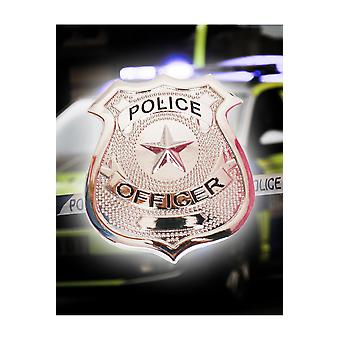 Tillbehör Politie badge Metaal