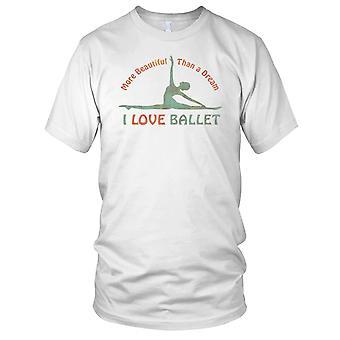 Elsker ballett drøm Mens T-skjorte