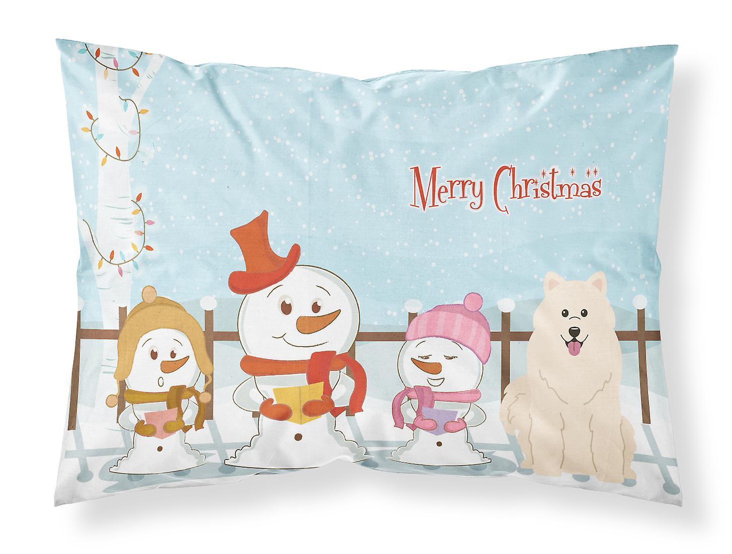 Tissu Taie Samoyède D'oreiller Standard Joyeux Noël De Chanteurs RLqAc543jS