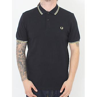 Fred Perry Twin Tipped Classic Polo - Black/White