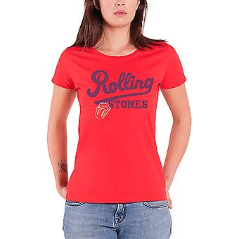 The Rolling Stones T Shirt Tongue Band Logo Official Womens New Red Skinny Fit