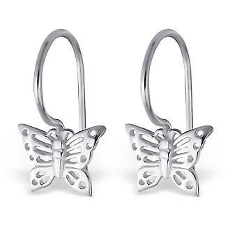 Butterfly - 925 Sterling Silver Plain Earrings