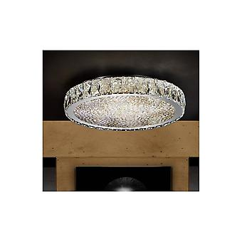 Schuller Dana Circular LED Crystal Chrome Ceiling Lamp Ø39cm