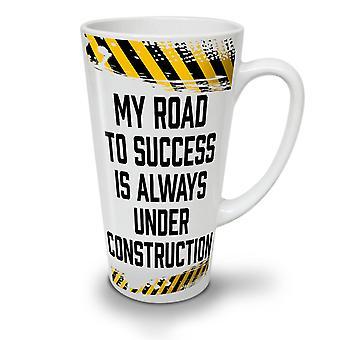 Road Success Joke Funny NEW White Tea Coffee Ceramic Latte Mug 17 oz | Wellcoda