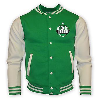 Sporting Lisboa College Baseball jakke (grønn) - Kids