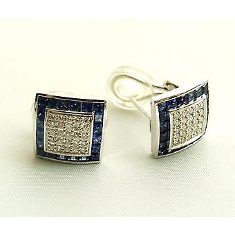 18 k earrings with Sapphire and diamonds