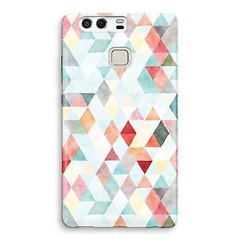 Huawei P9 imprimir completo caso - triángulos color pastel