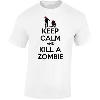Keep Calm And Kill A Zombie Mens T-Shirt 10 Colours (S-3XL) by swagwear
