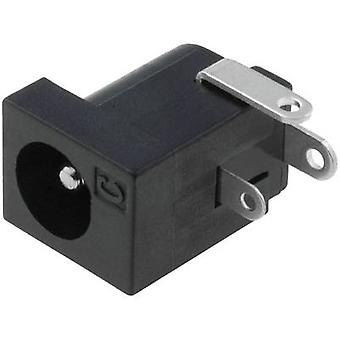 Low power connector Socket, horizontal mount 6.3 mm 2.5 mm