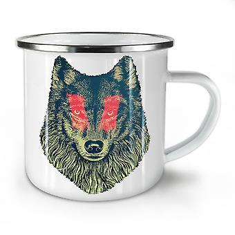 Wolf Eye Face Wild Animal NEW WhiteTea Coffee Enamel Mug10 oz | Wellcoda