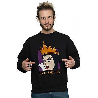 Disney Men's Evil Queen Cropped Head Sweatshirt