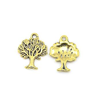 Packet 20 x Antique Gold Tibetan 22mm Tree Of Life Charm/Pendant ZX00585