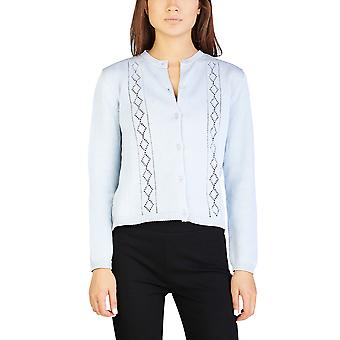 Miu Miu Women's Cotton Cardigan Sweater Blue