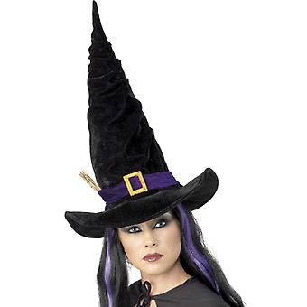 Witch Hat Black with Purple Ribbon