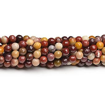 Strand 40+ Mixed Mookaite 8mm Faceted Round Beads CB43827-3