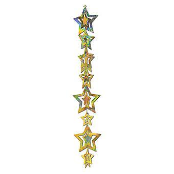 Destello de estrellas prismático 3D colgante Garland