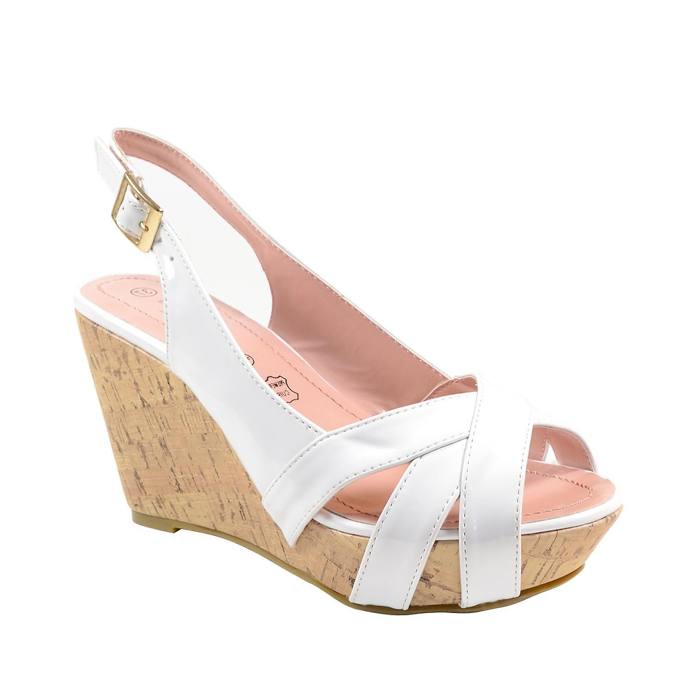 Waooh - Chaussures - Sandale compensée vernie The Divine Factory TDF503