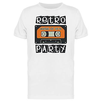 Retro Music For 80S Party Tee Men's -Image by Shutterstock
