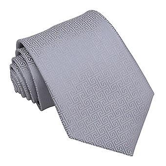 Srebrny grecki klucz klasyczny krawat
