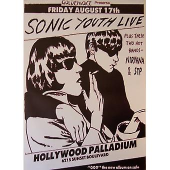 Sonic Youth Live Live Hollywood Palladium Poster Poster Print