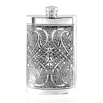Celtic Knot Pewter Hip Flask - 8oz