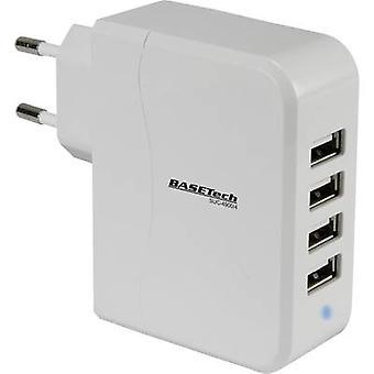 Basetech SUC-4900/4 SUC-4900/4 USB charger Mains socket Max. output current 4900 mA 4 x USB