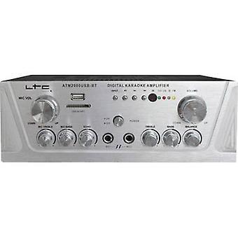 LTC Audio ATM2000USB-BT Karaoke amplifier incl. karaoke function